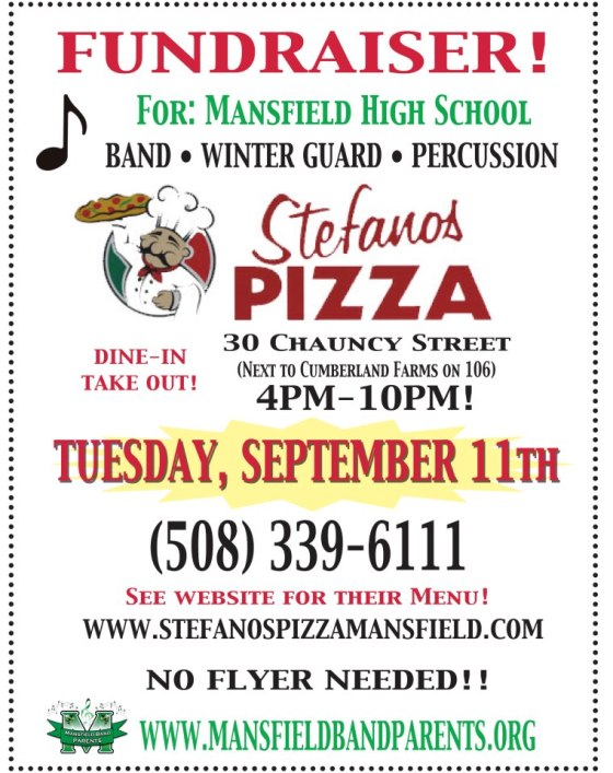 Bring Your Appetite Stefano S Pizza Fundraiser Tues 9 11
